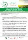 Benin PHM Policy Brief